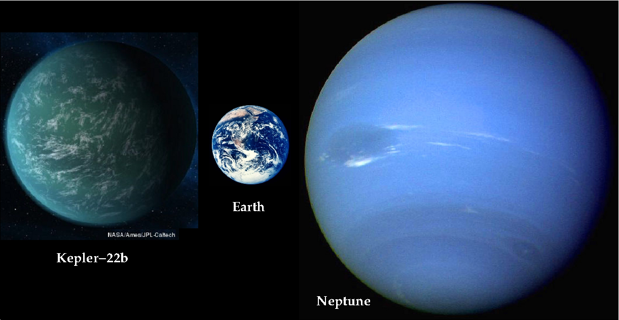 Exoplanet Kepler 22 B vs Earth - Pics about space