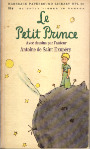 """Le Petit Prince"" by Antoine de Saint-Exupery. I picked up this copy in my Richmond neighborhood's second-hand bookshop for $3. Now let's see how much high school French I remember...."