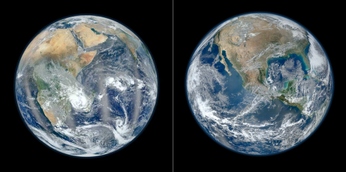 The blue marble, our home, as seen by the Suomi NPP satellite. [Credit: NASA/Norman Kuring]