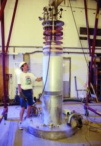 The ADMX axion detector at the University of Washington. [Credit: ADMX collaboration]