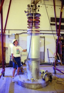The ADMX axion detector at the University of Washington. [Credit: ADMX collaboration]