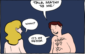 "A panel from ""Saturday Morning Breakfast Cereal"". The comic behind the link is very NSFW and very nerdy, so don't click if you're offended by either. [Credit: Zach Weiner]"