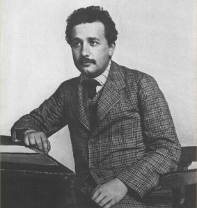 Albert Einstein as a young man, before his crazy-hair days. (Credit: Lucien Chavan, public domain)