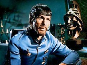"The evil mirror-universe Mr. Spock, from the original series episode ""Mirror, Mirror"". The beard is obviously a sign of his evilness, which means somewhere in a parallel universe there's a good version of me, who is clean-shaven. [Credit: CBS Studios]"
