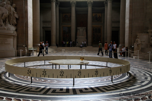 The Foucault pendulum at the Pantheon in Paris, France. [Credit: Allie Wilkinson]