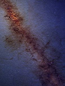 The center of the Milky Way lies at the upper left of this image from the 2MASS survey of galaxies. [Credit: 2MASS/G. Kopan, R. Hurt]