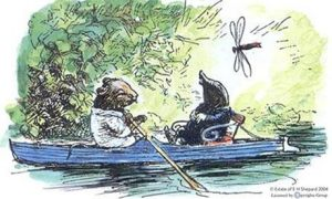 "Mole and Ratty from ""The Wind in the Willows"". [Credit: E. H. Shepherd]"
