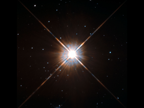 Proxima Centauri, the closest star to the Solar System, as viewed by the Hubble Space Telescope. [Credit: ESA/Hubble & NASA]