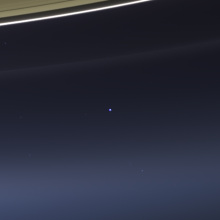 That dot is Earth. You're somewhere in that dot. [Credit: NASA/JPL-Caltech/SSI ]