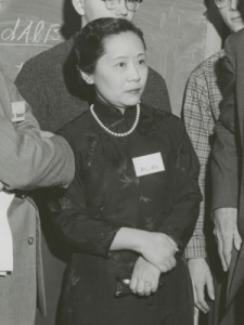 The great experimental physicist Chien-Shiung Wu in 1958. [Credit: Smithsonian Institution]