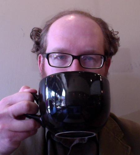 On occasion, the staff at Capital Coffee and Desserts would serve me coffee in a soup bowl. The day I took this photo, I obviously needed it, based on my bleary eyes and suboptimal hair.
