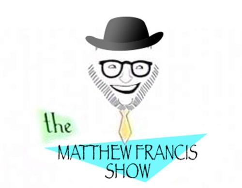 There is no such thing as The Matthew Francis Show, except in the imagination of Morgan Jackson, who created this image. However, I have never looked more like Isaac Asimov. [Credit: Morgan Jackson ]