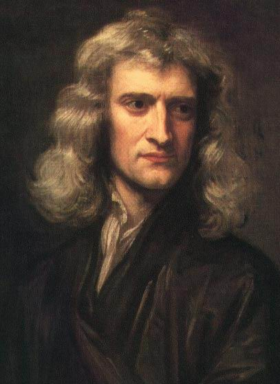 Noted alchemist and religious historian Isaac Newton.