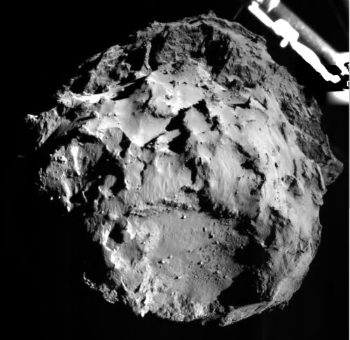 Comet 67P as seen by the Philae lander on its approach yesterday. [Credit:  ESA/Rosetta/Philae/ROLIS]