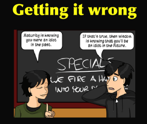 Sometimes you'll get it wrong. [Credit: Questionable Content by Jeph Jacques. Click for the original comic]